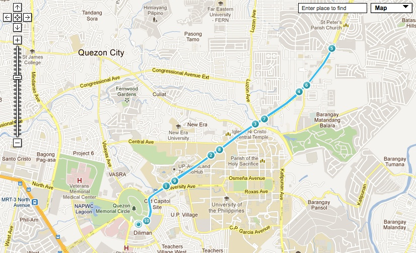 how to get to quezon city circle