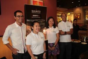 Suunto Brand Ambassadors Andy Leuterio, Keisha Fule and Ige Lopez with Mascy Cabuhat-Pineda.